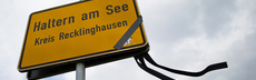 Germanwings haltern ortsschild flor dpa